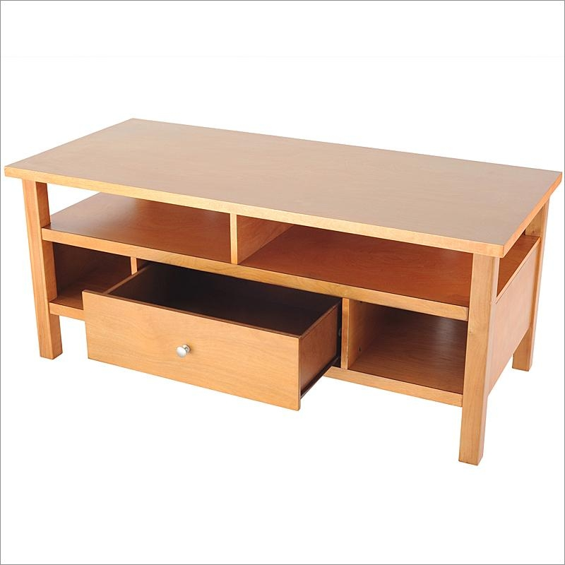 Honey Maple Flat Screen Or Tube Tv Stand With Drawerbay Shore Pertaining To Most Popular Maple Tv Stands (Image 12 of 20)
