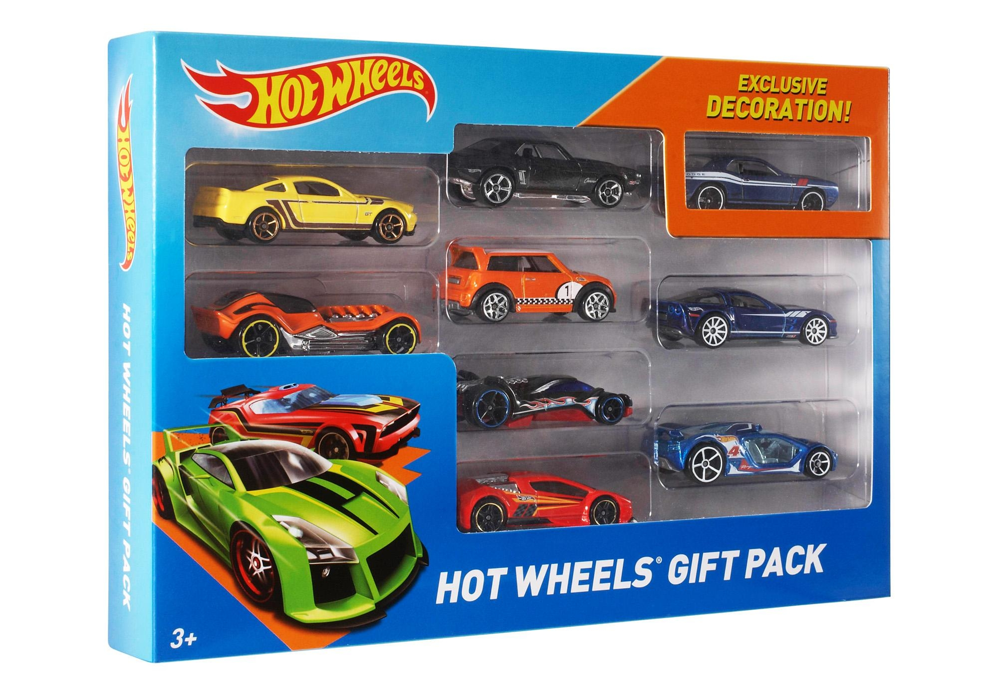 Hot Wheels 9 Die Cast Car Gift Pack (Styles May Vary) – Walmart With Regard To Hot Wheels Wall Art (Image 13 of 20)