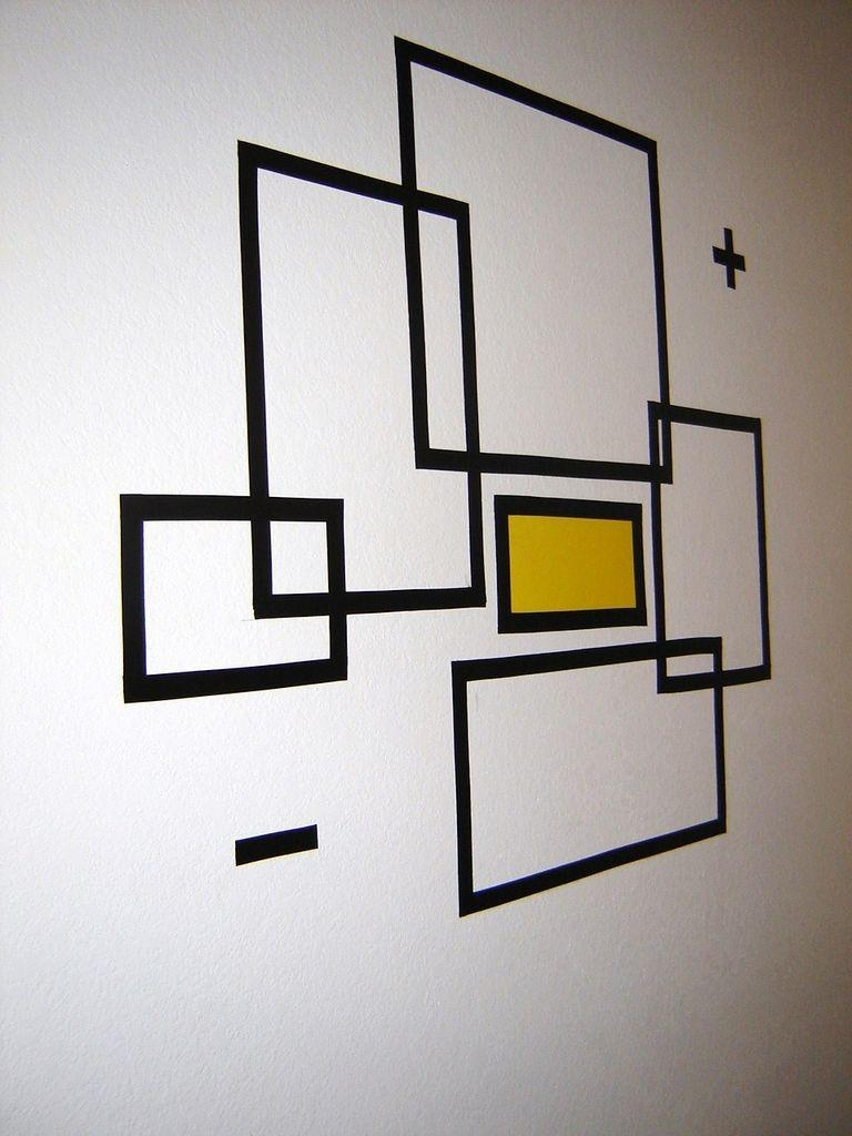 How To Create Wall Art With Electrical Tape: 6 Steps (With Pictures) Intended For Duct Tape Wall Art (Photo 2 of 20)