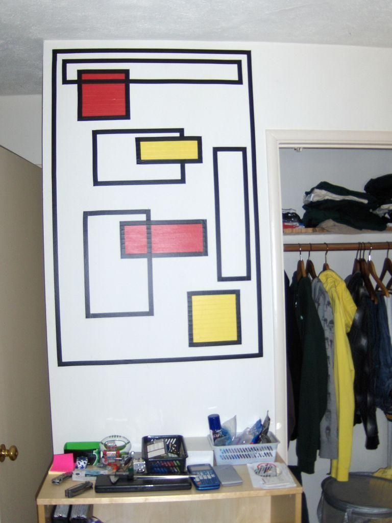 How To Create Wall Art With Electrical Tape: 6 Steps (With Pictures) With Duct Tape Wall Art (Image 18 of 20)