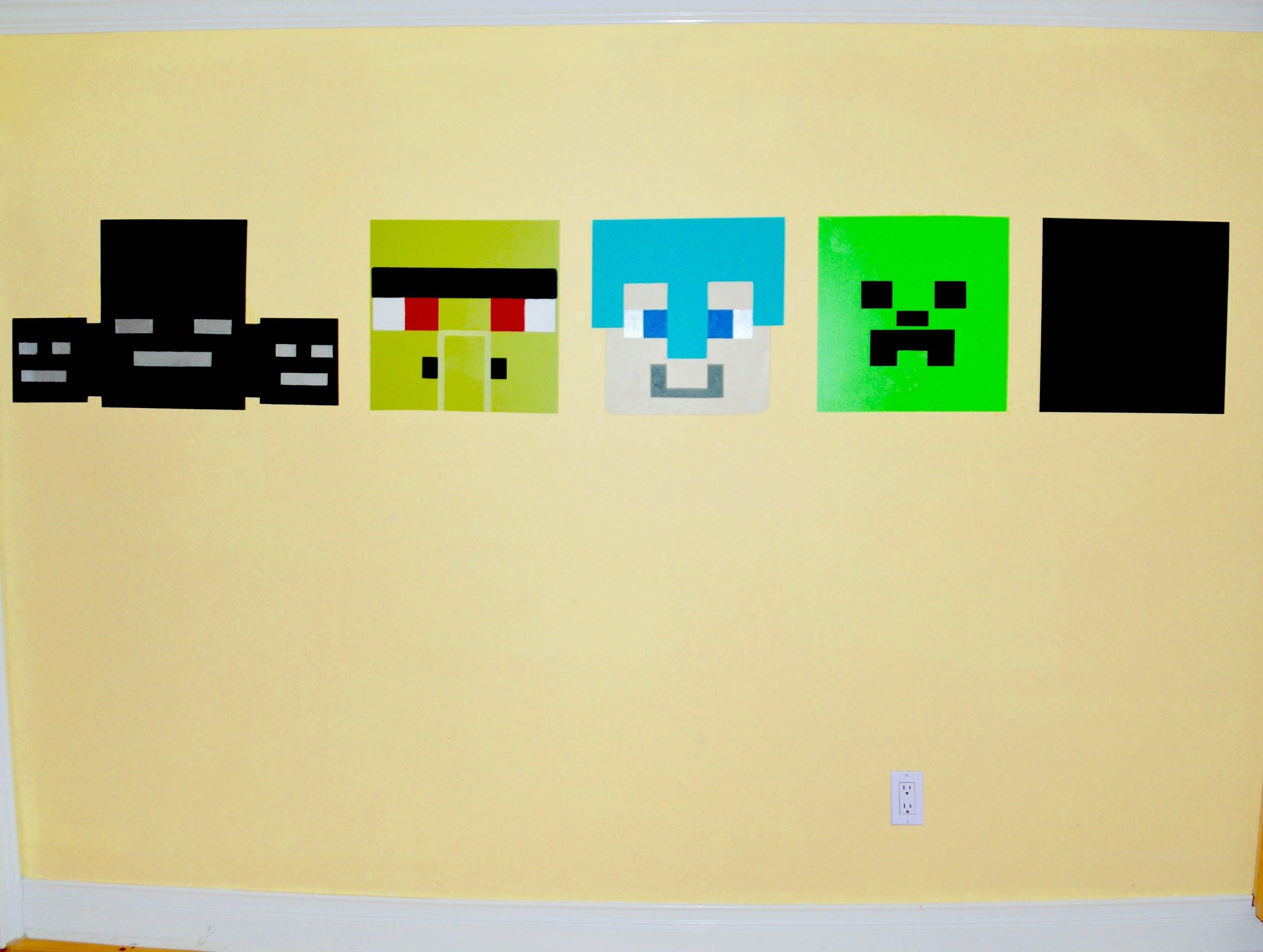 How To Paint A Minecraft Wall Mural – Youtube In Minecraft Wall Art Uk (Image 9 of 20)