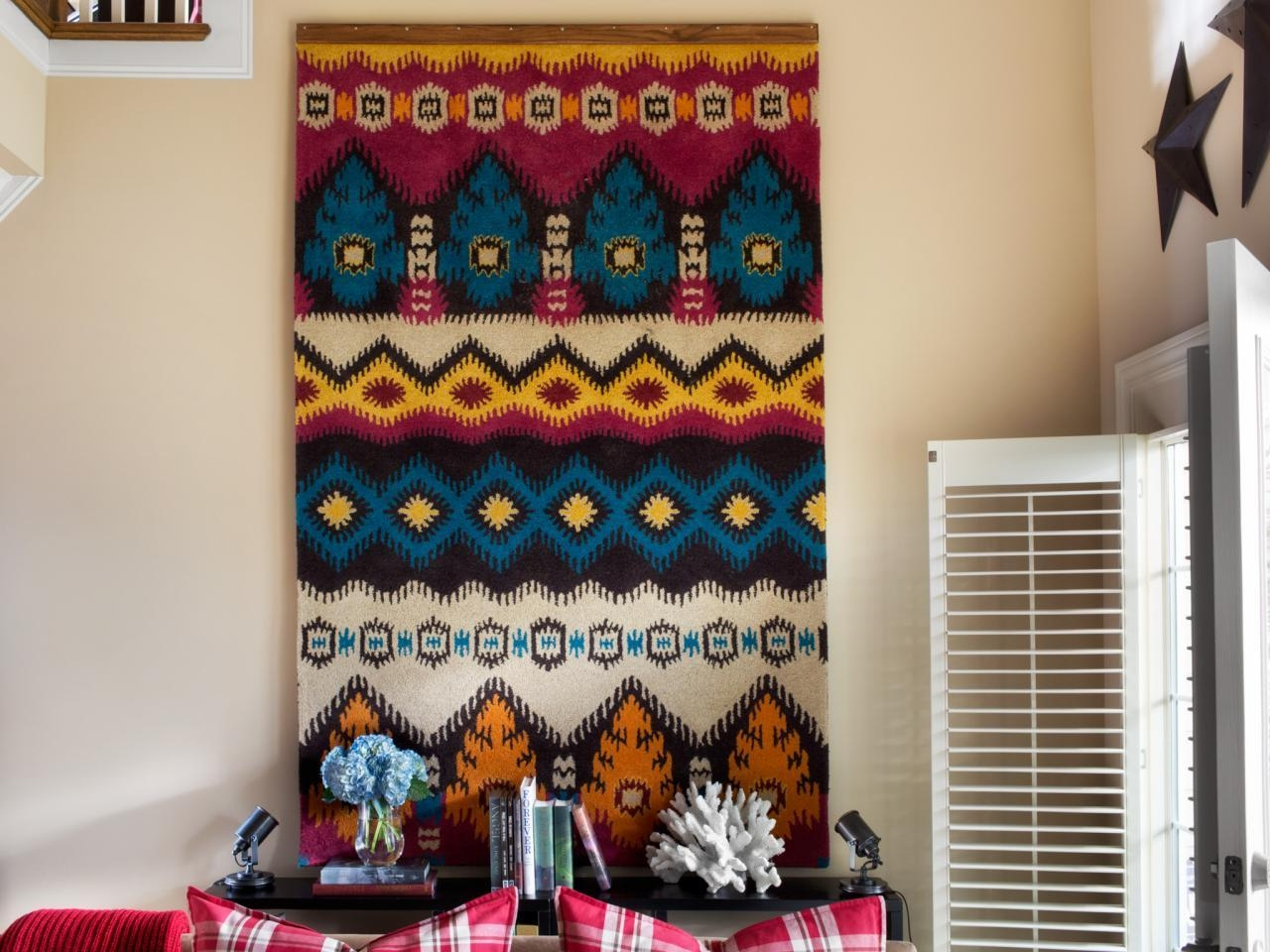 How To Turn A Rug Into A Wall Art Tapestry | Hgtv With Regard To Turn Pictures Into Wall Art (Image 7 of 20)