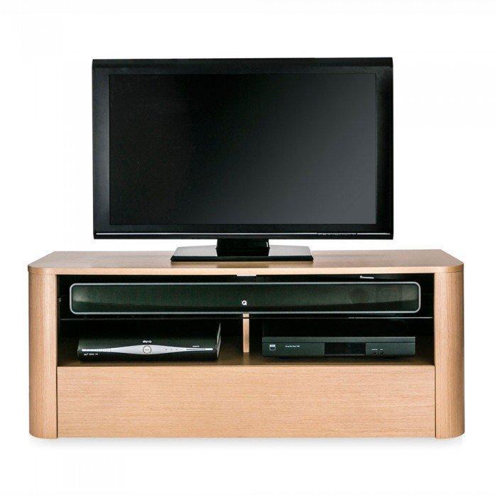 Hugo Adh1260 Light Oak Soundbar Ready Tv Cabinet In Latest Light Oak Tv Cabinets (View 8 of 20)