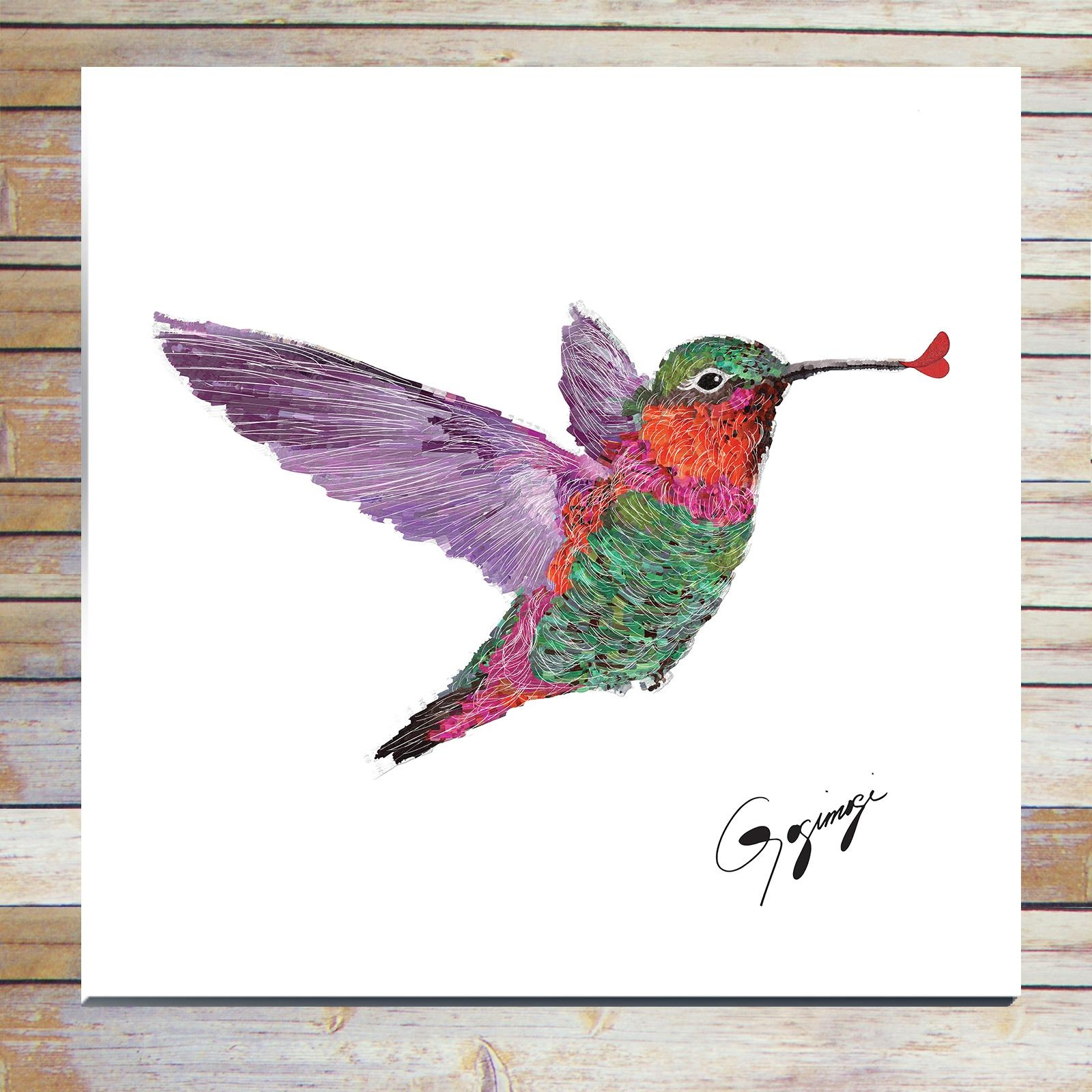 Hummingbird Wall Art On Glass Or Metal – Gogimogi With Regard To Hummingbird Metal Wall Art (Image 11 of 20)