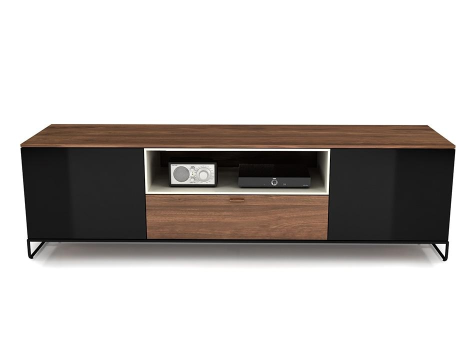 Huppe Linea Modern Tv Stand Throughout Best And Newest Smoked Glass Tv Stands (Image 12 of 20)