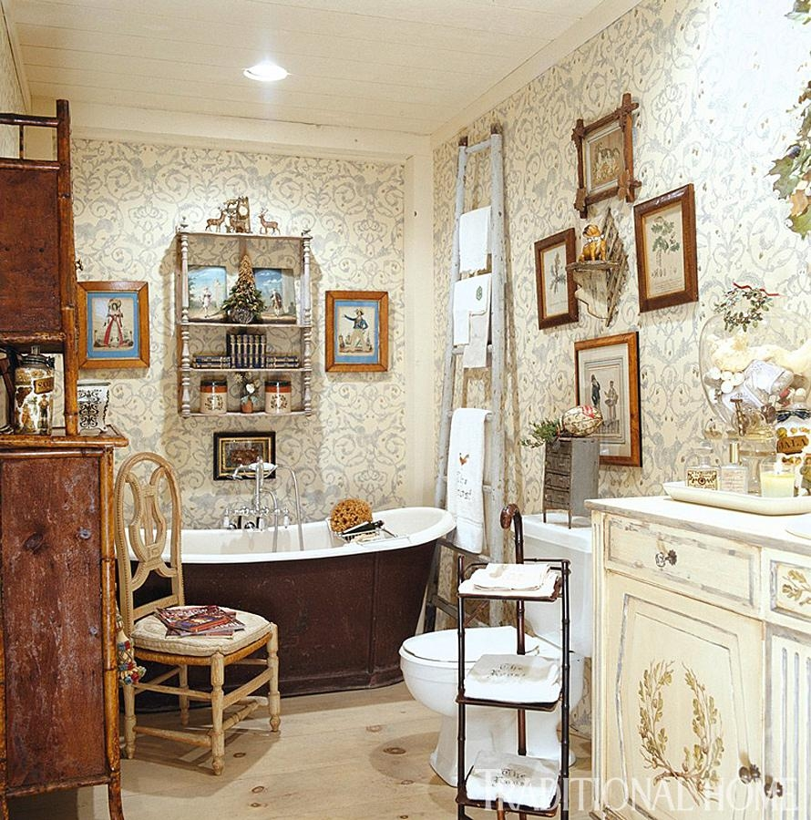 Hydrangea Hill Cottage: French Country Decorating Intended For French Bathroom Wall Art (View 20 of 20)