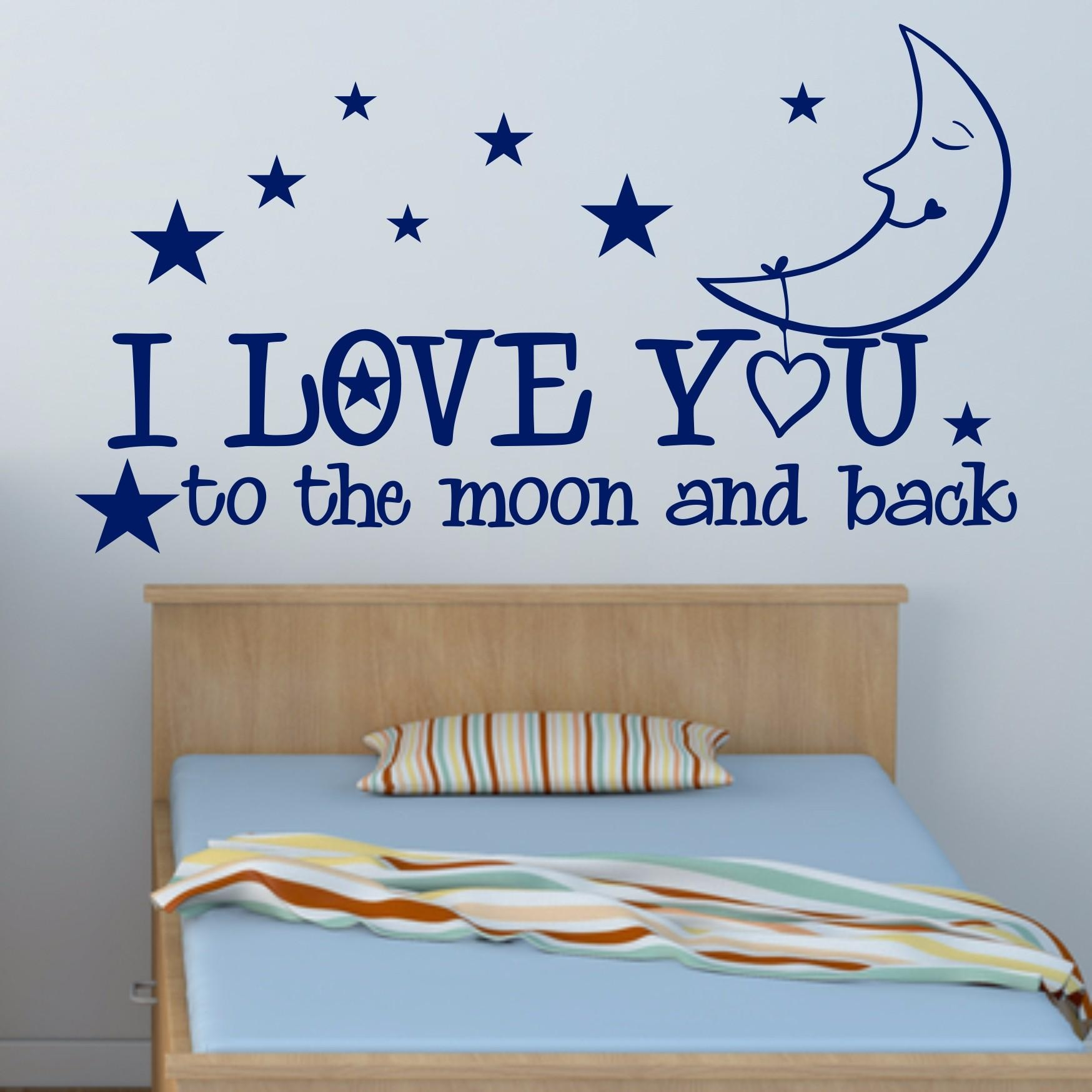 I Love You To The Moon And Back – Big Paw Print Wall Art Regarding Love You To The Moon And Back Wall Art (Image 5 of 20)