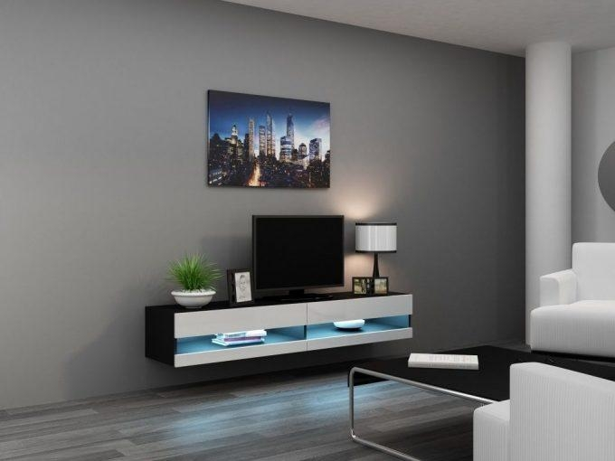 Ideas: Modern Living Room Storage Design With Nice Wall Mounted Tv Regarding Newest Modern Wall Mount Tv Stands (Image 4 of 20)