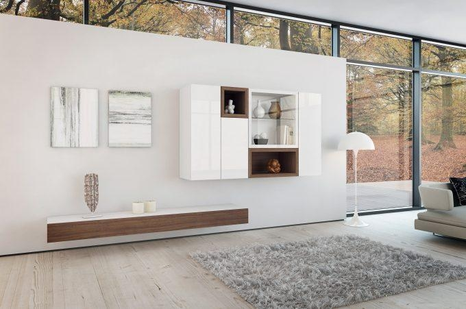 Ideas: Modern Living Room Storage Design With Nice Wall Mounted Tv With Regard To Latest White Wall Mounted Tv Stands (Image 10 of 20)