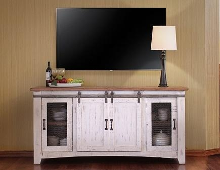 Ifd360Stand W — The Rustic Mile Intended For Most Recent Rustic White Tv Stands (Image 9 of 20)