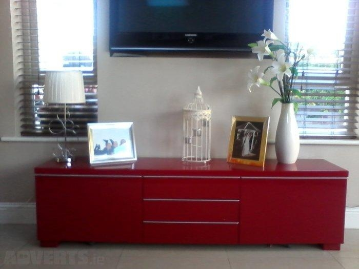 Ikea Besta Burs Tv Stand Sideboard High Gloss Red For Sale In With Latest Red Gloss Tv Stands (View 7 of 20)