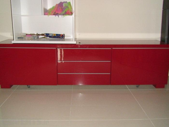 Ikea Besta Burs Tv Stand Unit Red High Gloss For Sale In Inside Recent Red Tv Units (Image 6 of 20)