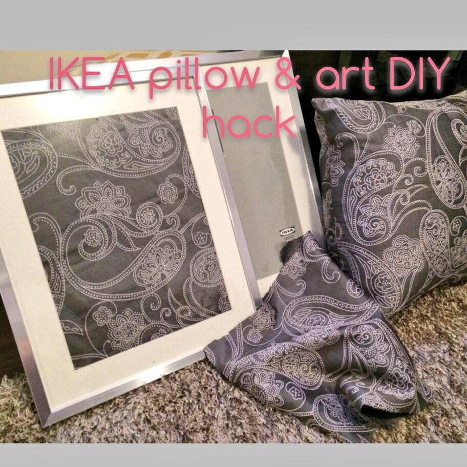 Ikea Diy Hack – How To Turn Fabric Into Wall Art – Jersey Girl Talk For Turn Pictures Into Wall Art (Image 10 of 20)