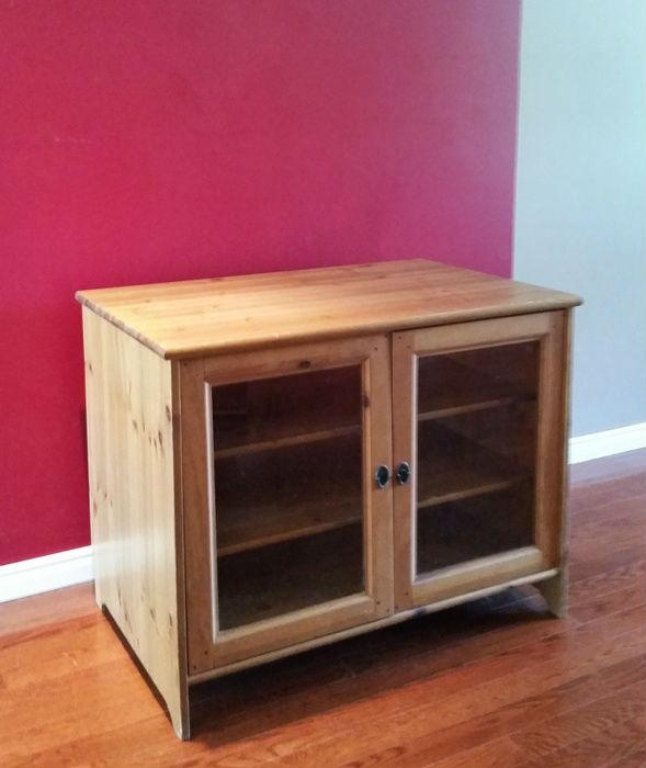 Ikea Leksvik Solid Pine Tv Cabinet – Webcheap (View 4 of 20)