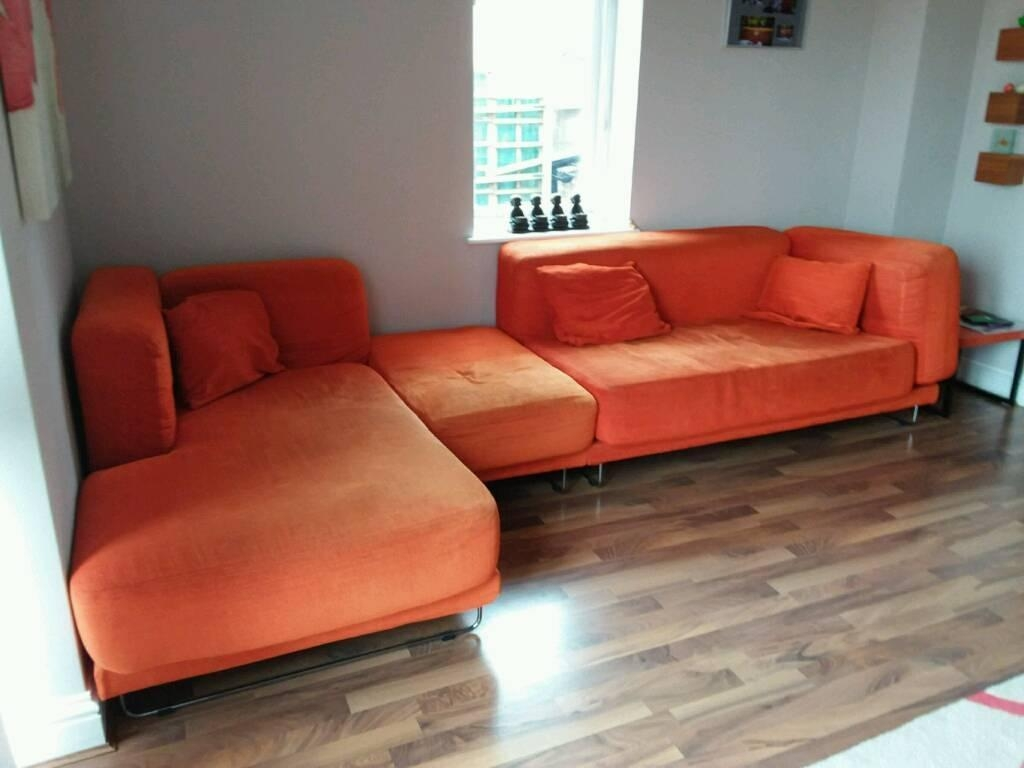 Ikea Modular Corner Sofa | In Bury St Edmunds, Suffolk | Gumtree Regarding Orange Ikea Sofas (View 12 of 20)