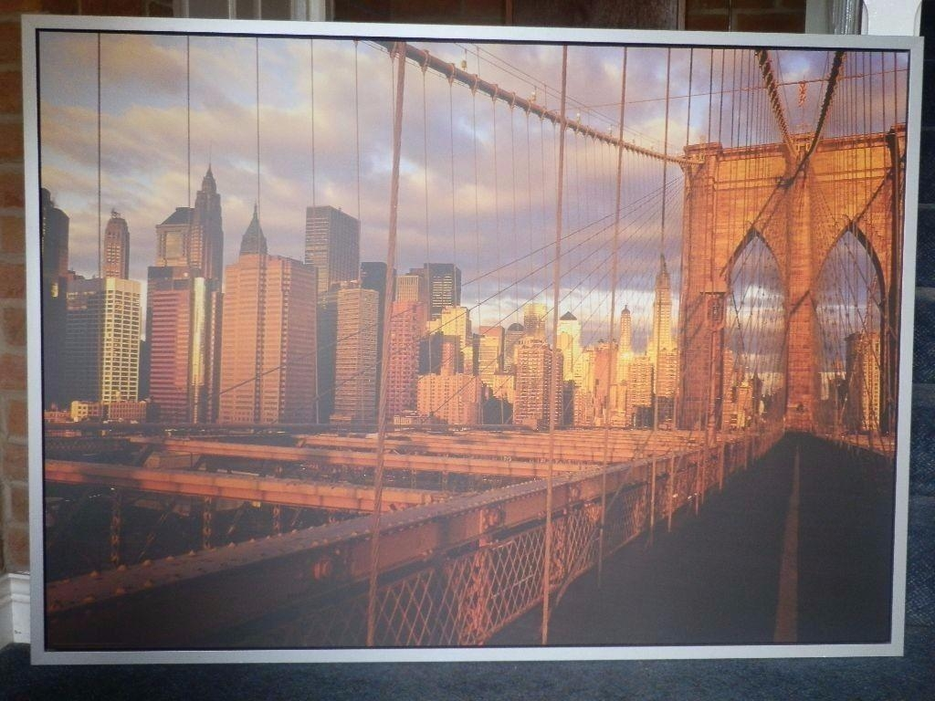 Ikea New York Brooklyn Bridge Canvas | In East London, London In Ikea Brooklyn Bridge Wall Art (View 13 of 20)