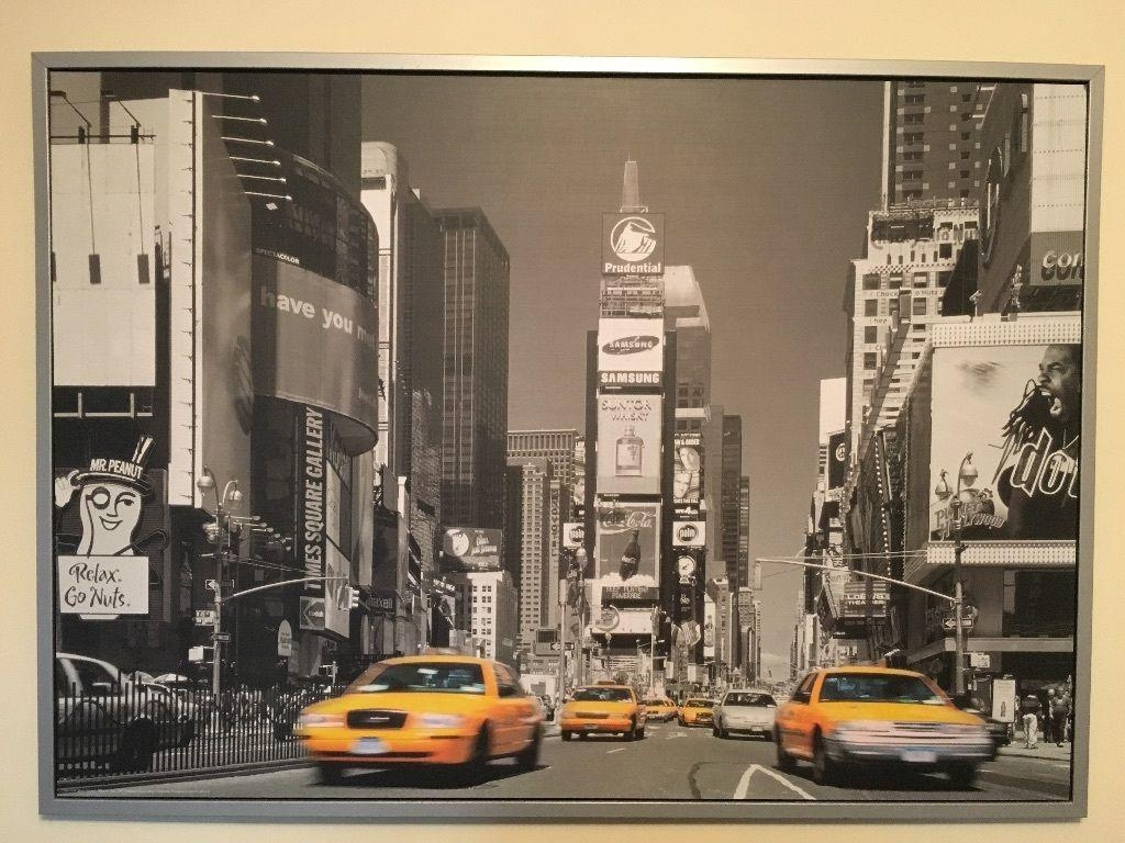 Ikea New York Times Square Canvas Picture | In Littleborough Within Ikea Wall Art Canvas (Image 6 of 20)