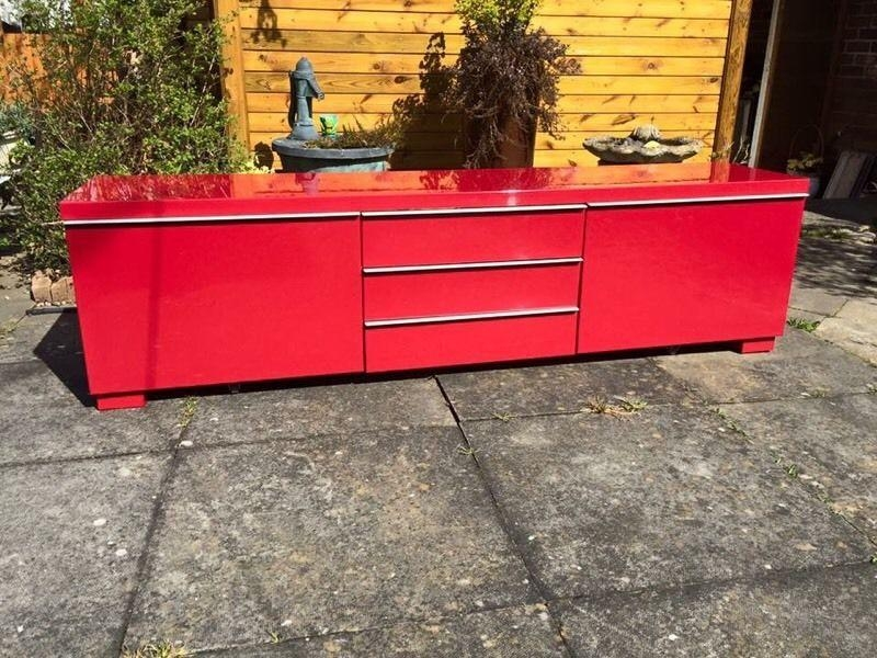 Ikea Red Gloss Tv Cabinet – Tv, Dvd & Cameras | Tv, Dvd & Cameras With Best And Newest Red Gloss Tv Cabinet (View 2 of 20)