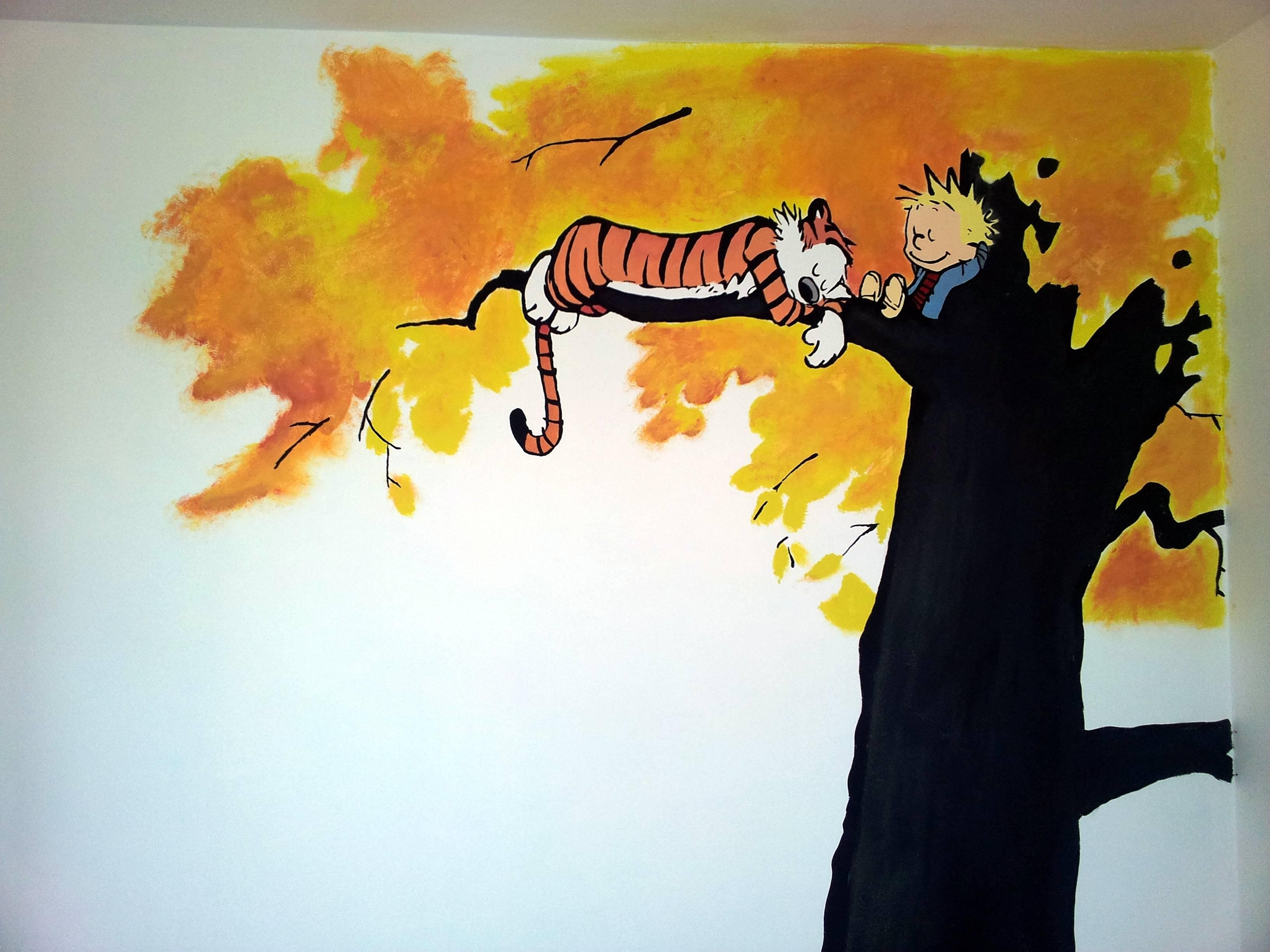 I'm Not Much Of A Painter, But Here's Our (As Yet Unborn With Regard To Calvin And Hobbes Wall Art (View 6 of 20)