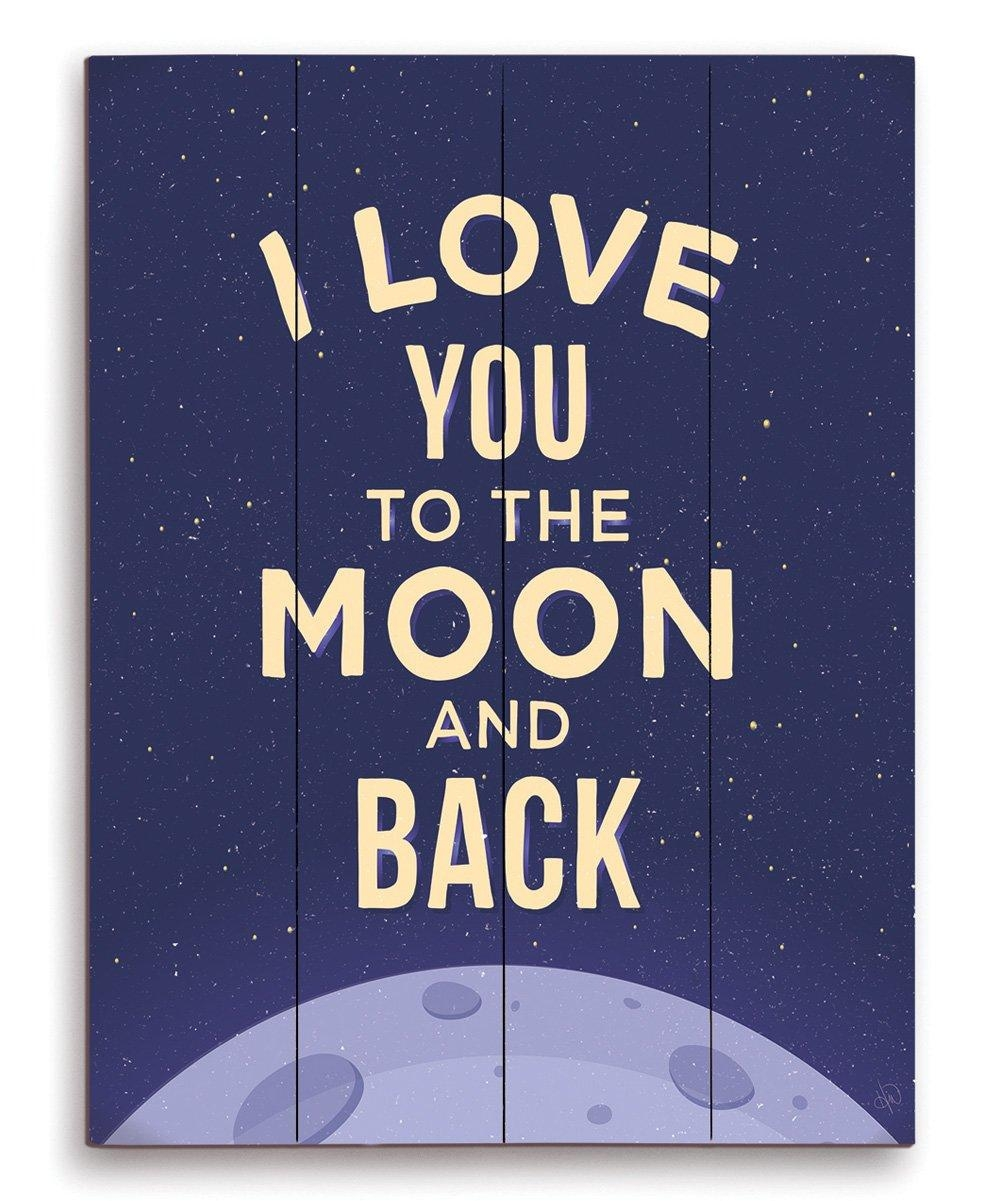 Image Canvas I Love You To The Moon And Back Wall Art | Zulily Within Love You To The Moon And Back Wall Art (View 13 of 20)