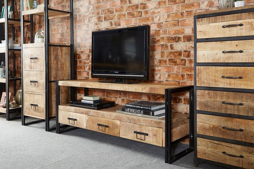 Imari Industrial Mango Large Plasma Tv Unit | Casa Bella Furniture Uk Inside Latest Mango Tv Units (Image 11 of 20)