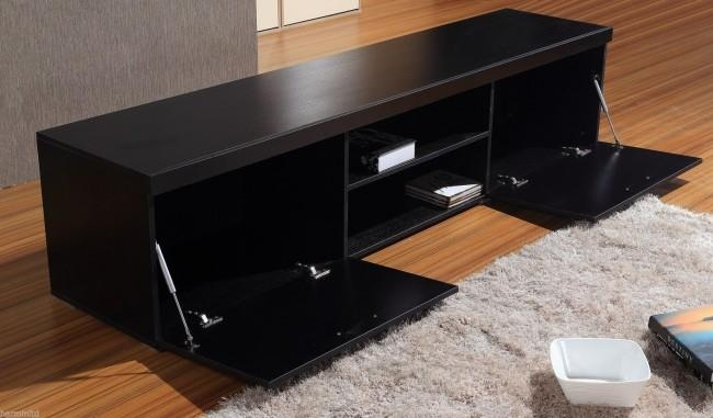Impressive Large Black Tv Stand Tv047 Large Tv Stand In Black And With Most Up To Date Large Black Tv Unit (Image 12 of 20)