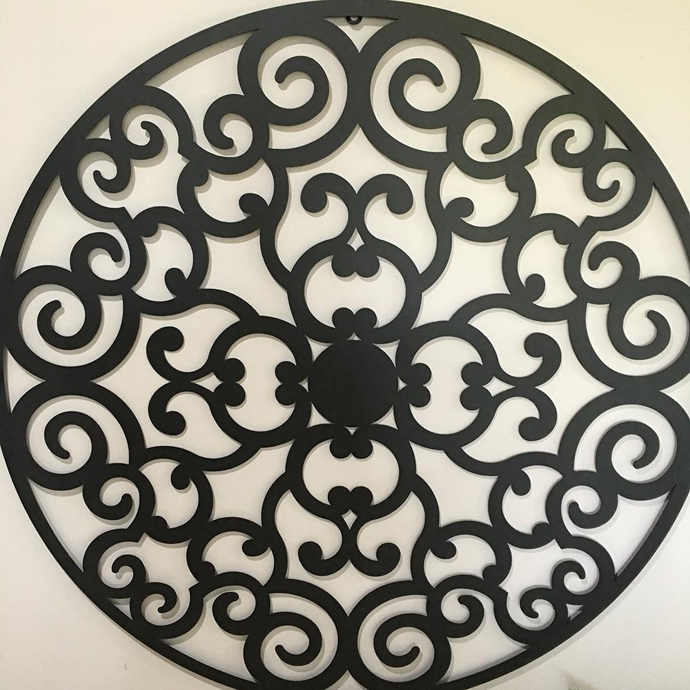 Impressive Large Round Metal Wall Decor Unique Design With Regard To
