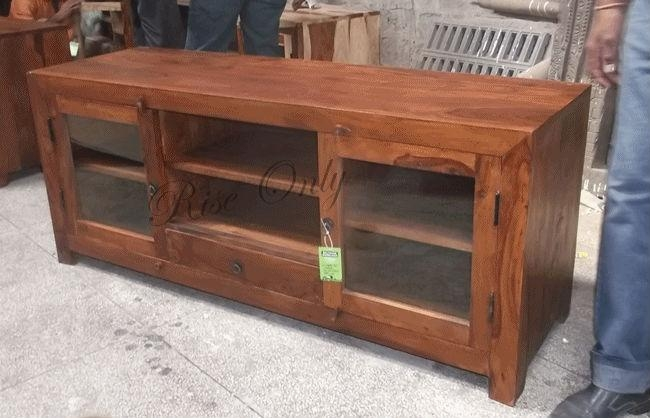 Indian Sheesham Wood Tv Cabinet | Memsaheb For 2017 Sheesham Wood Tv Stands (Image 3 of 20)