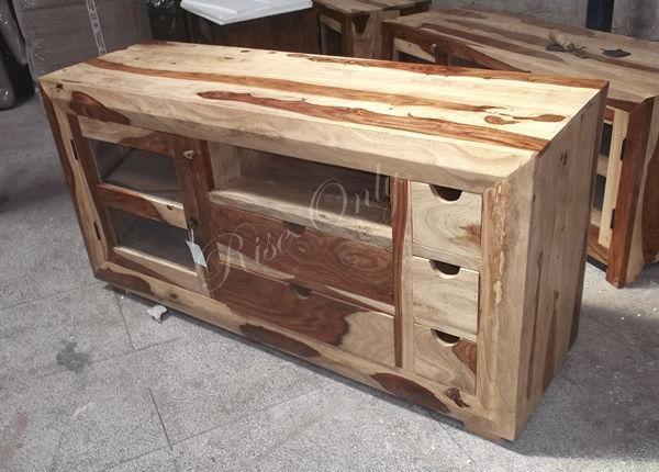 Indian Sheesham Wood Tv Cabinet | Memsaheb Pertaining To Most Popular Sheesham Wood Tv Stands (View 7 of 20)