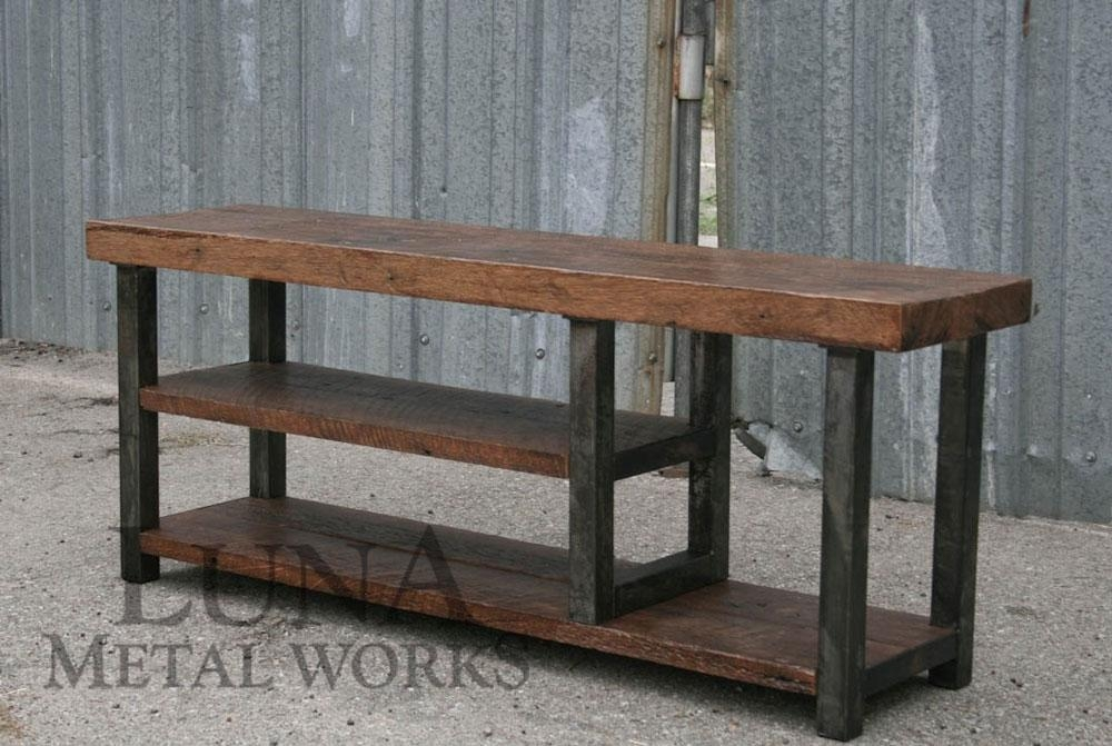 Industrial Furniture Designs – Luna Metal Works Throughout Recent Metal And Wood Tv Stands (View 5 of 20)