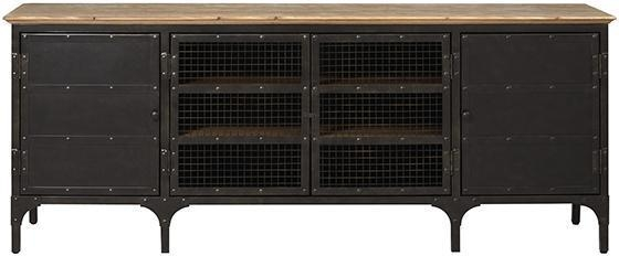 Industrial Style Wood Top Tv Stand In Most Popular Industrial Style Tv Stands (Image 13 of 20)