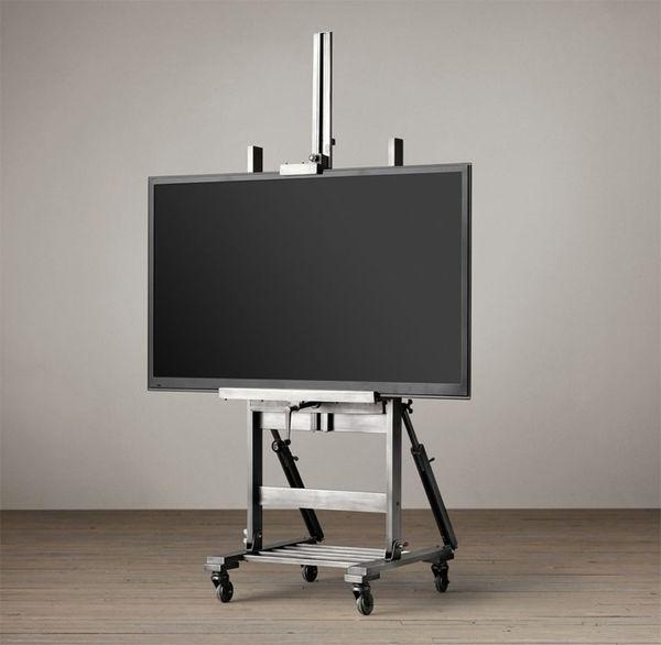 Industrial Television Displays : Metal Tv Easel With Most Popular Easel Tv Stands For Flat Screens (Image 15 of 20)