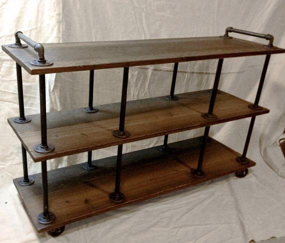 Industrial Tv Stand Iron And Wood For 46 To 52 In Recent Industrial Tv Stands (Image 13 of 20)
