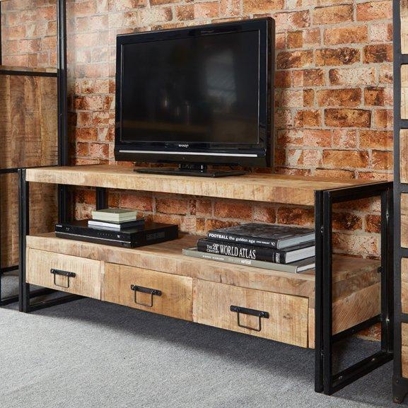 Industrial Tv Stands | Wayfair.co (Image 6 of 20)