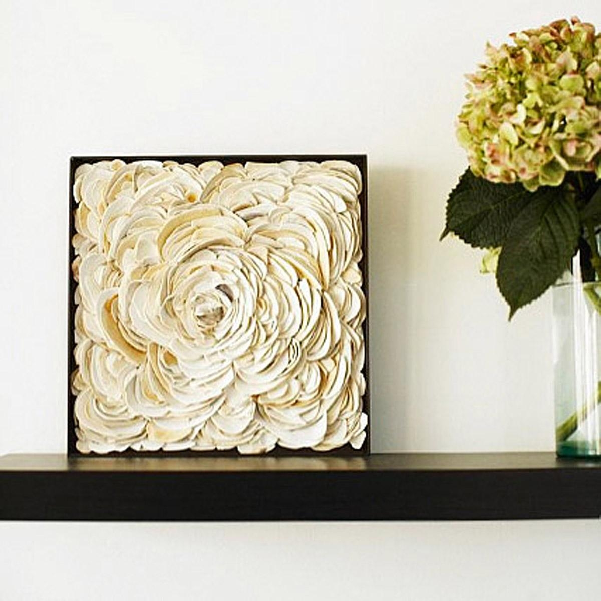 Infinite Seashell Wall Sculpture | Hamptons Beach Art | Uncommongoods Intended For Wall Art With Seashells (Image 13 of 20)