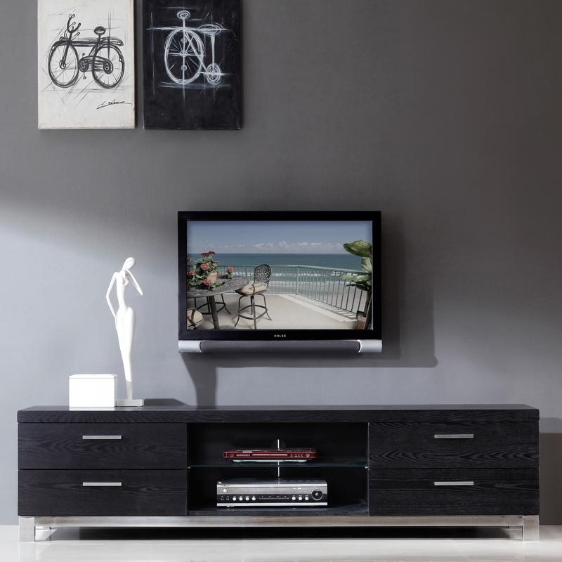 Innovative Large Black Tv Stand 17 Best Images About Tv With Regard To 2018 Large Black Tv Unit (View 10 of 20)