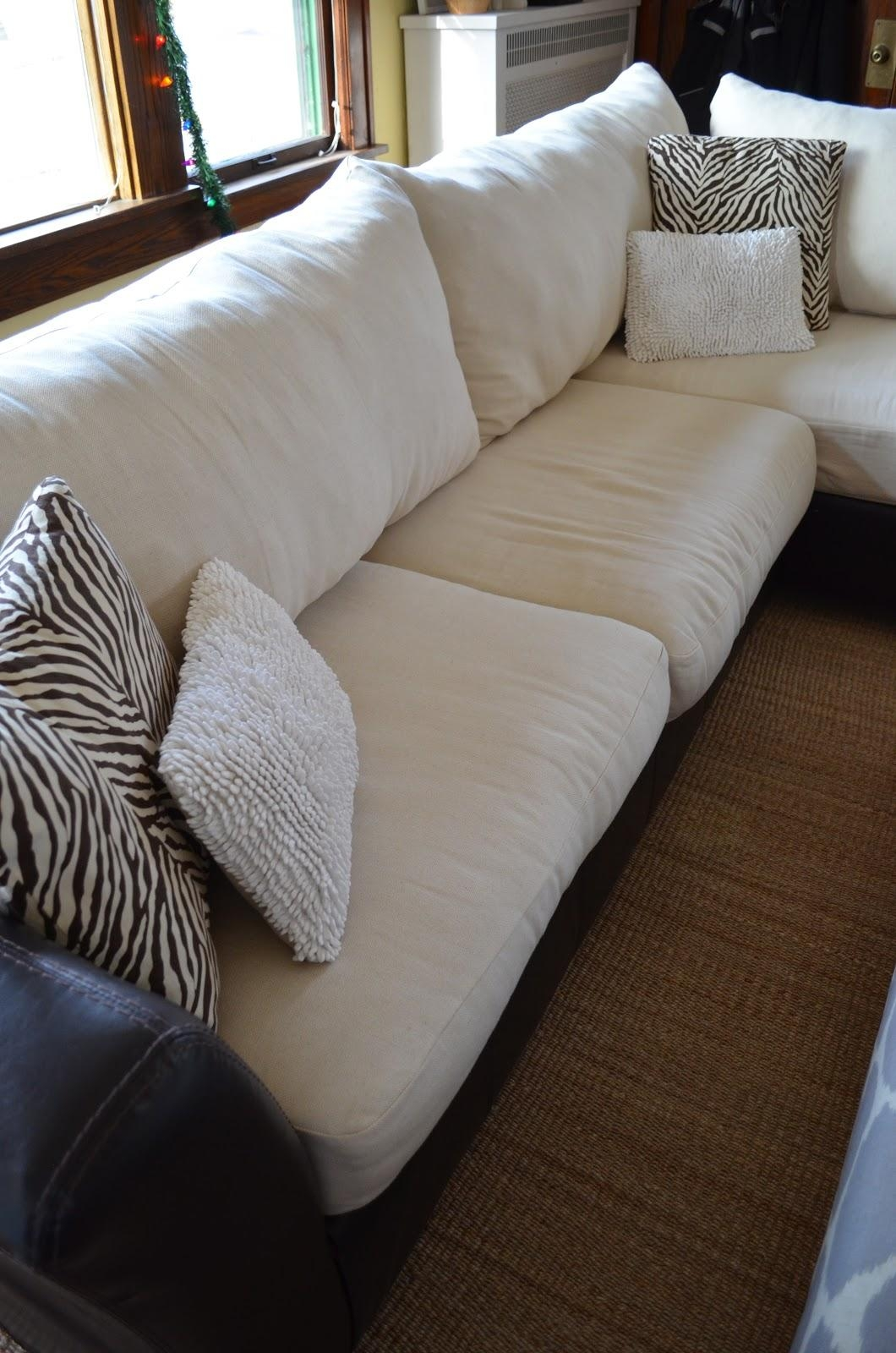 Inside Out Design: How To Make New Back Cushions For A Couch Intended For Sofa Cushions (Image 13 of 21)