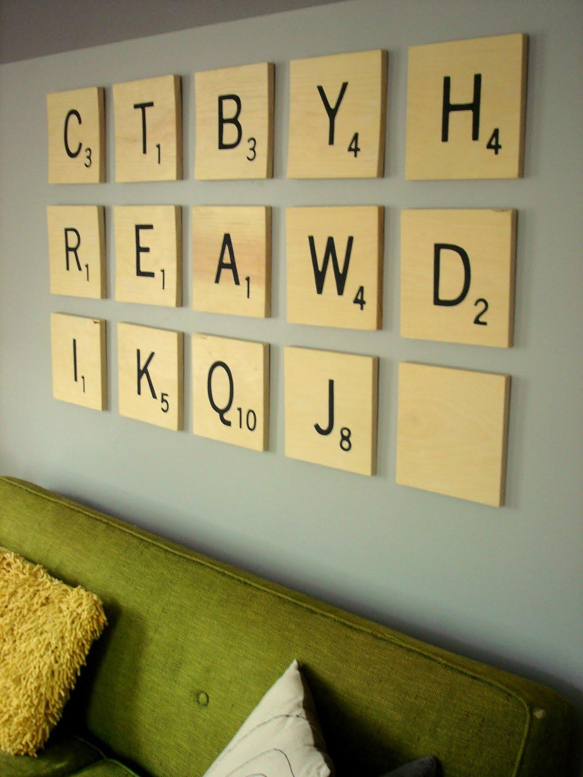 Insideways: Diy Scrabble Art For Scrabble Letters Wall Art (Image 8 of 20)