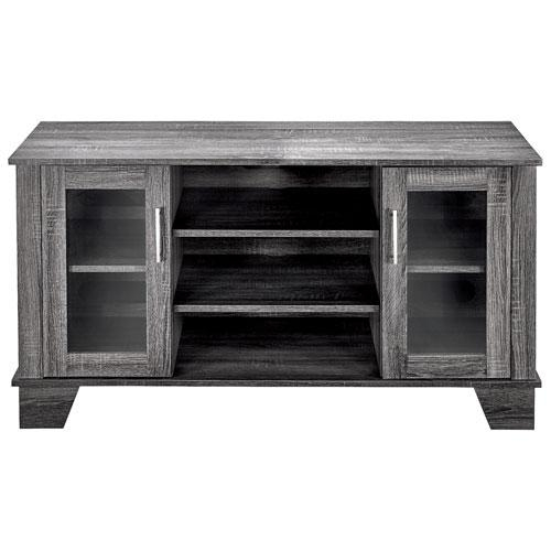 "Insignia Tv Stand For Tvs Up To 50"" – Light Grey : Tv Stands Throughout Recent Grey Wood Tv Stands (View 13 of 20)"