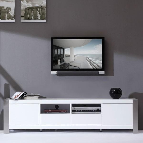 Inspirational Pictures Of Tv Stands White – Furniture Designs Intended For 2018 High Gloss Tv Bench (Image 7 of 20)