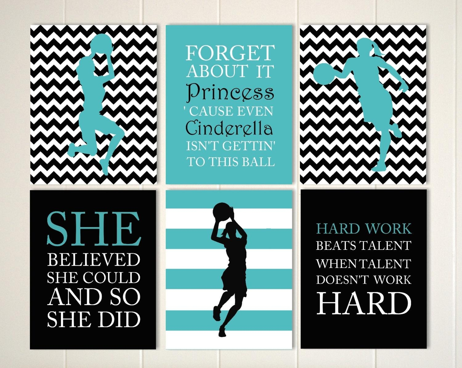 Inspirational Quote Art Girls Quotes Wall Art Basketball For Inspirational Wall Art For Girls (Image 12 of 20)