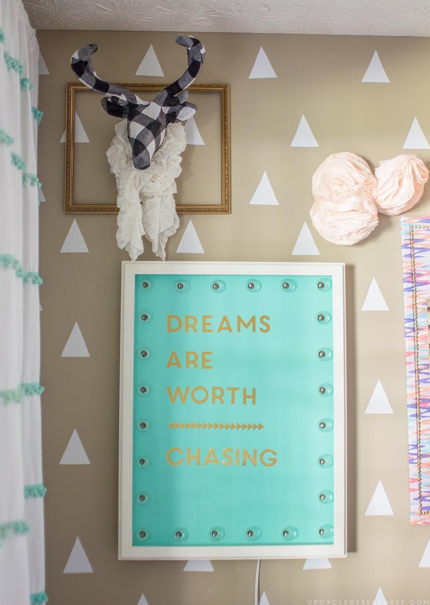 Inspiring Diy Gold Foil Wall Art | Mountainmodernlife Within Teal And Gold Wall Art (View 18 of 20)