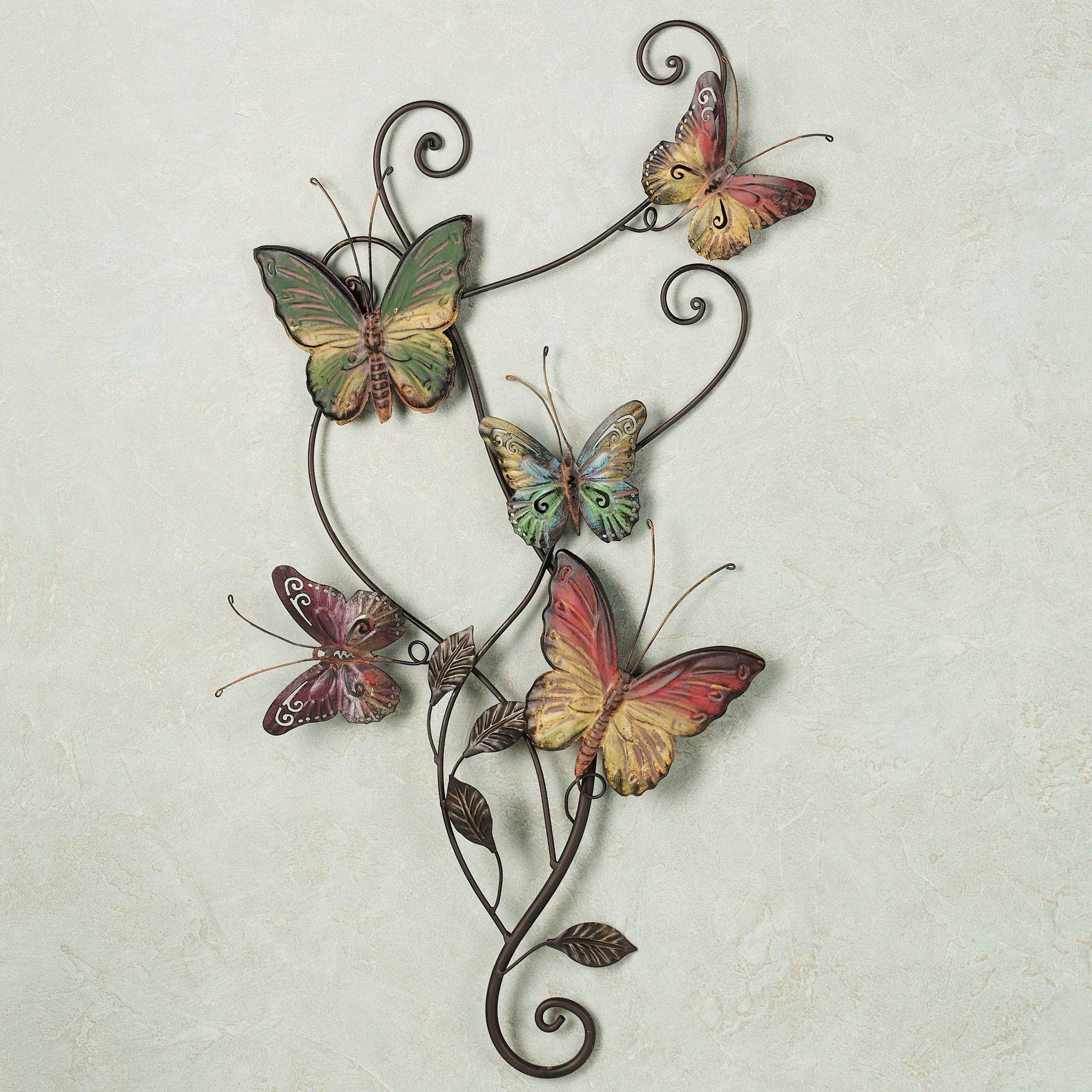 Interior : Marvellous Metal Wall Art (1) Metal Wall Art With Regard To White Metal Butterfly Wall Art (Image 9 of 20)