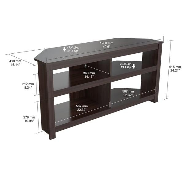 Inval Contemporary Espresso Corner Tv Stand – Free Shipping Today Regarding Recent Contemporary Corner Tv Stands (View 13 of 20)