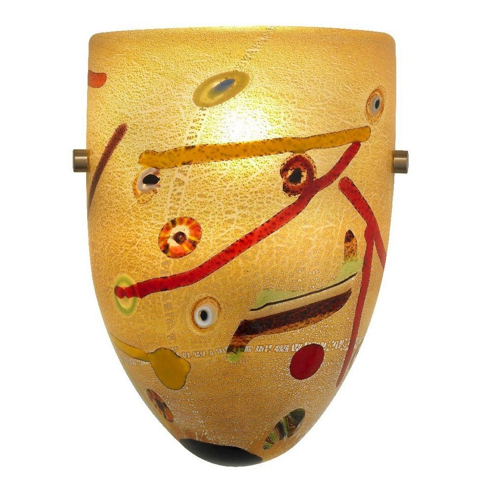 Italian Art Glass Wall Sconce   79 1207   Destination Lighting With Regard To Italian Glass Wall Art (Image 6 of 20)