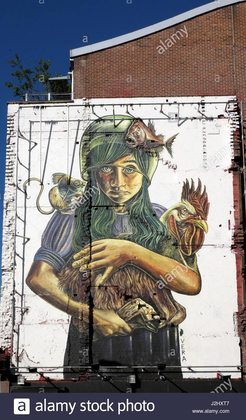 Italian Artist Vera Bugatti Mural 'teratology' Of Girl Holding Throughout Italian Art Wall Murals (View 8 of 20)