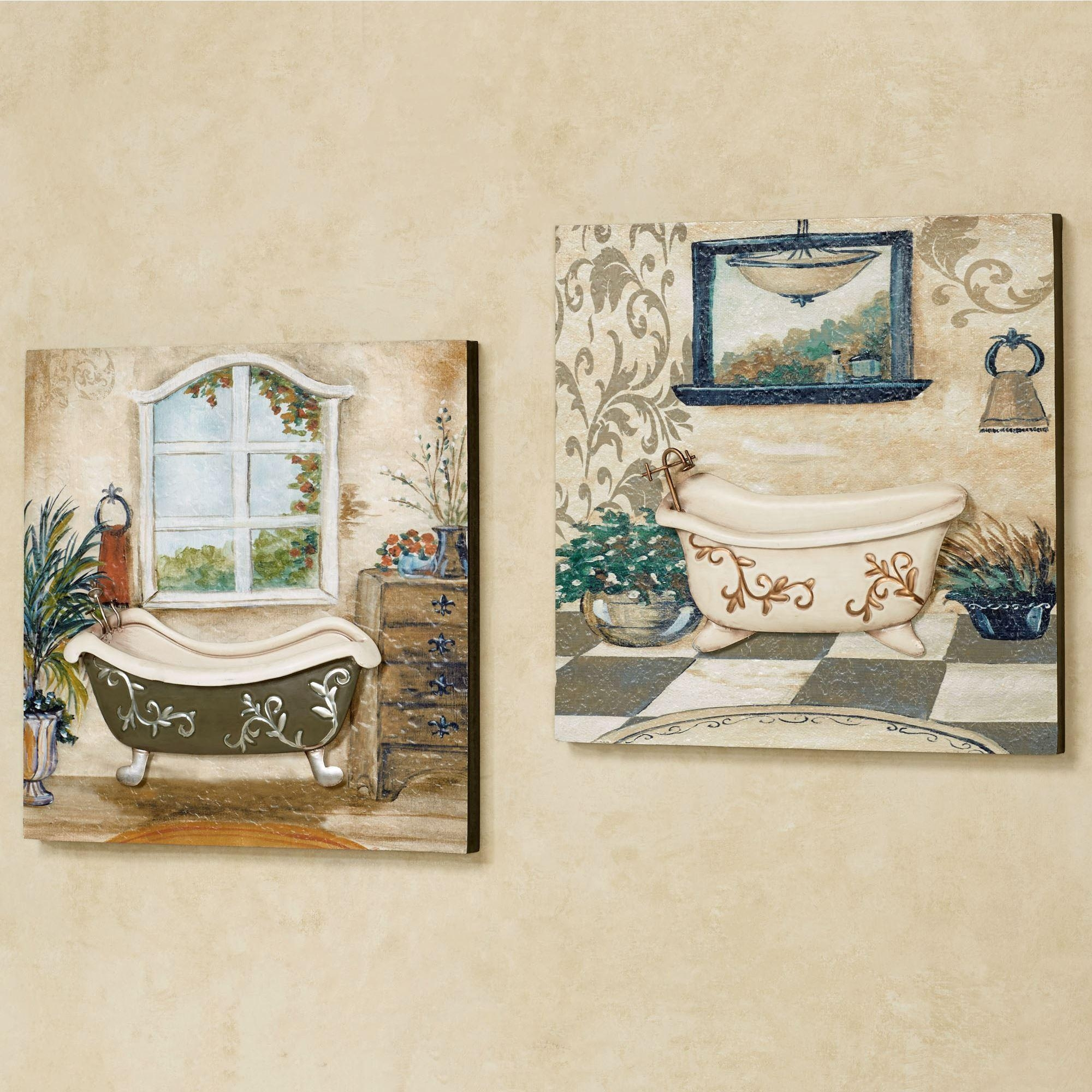 Italian Bathroom Wall Decor : Brightpulse Regarding Italian Wall Art For Bathroom (View 4 of 20)