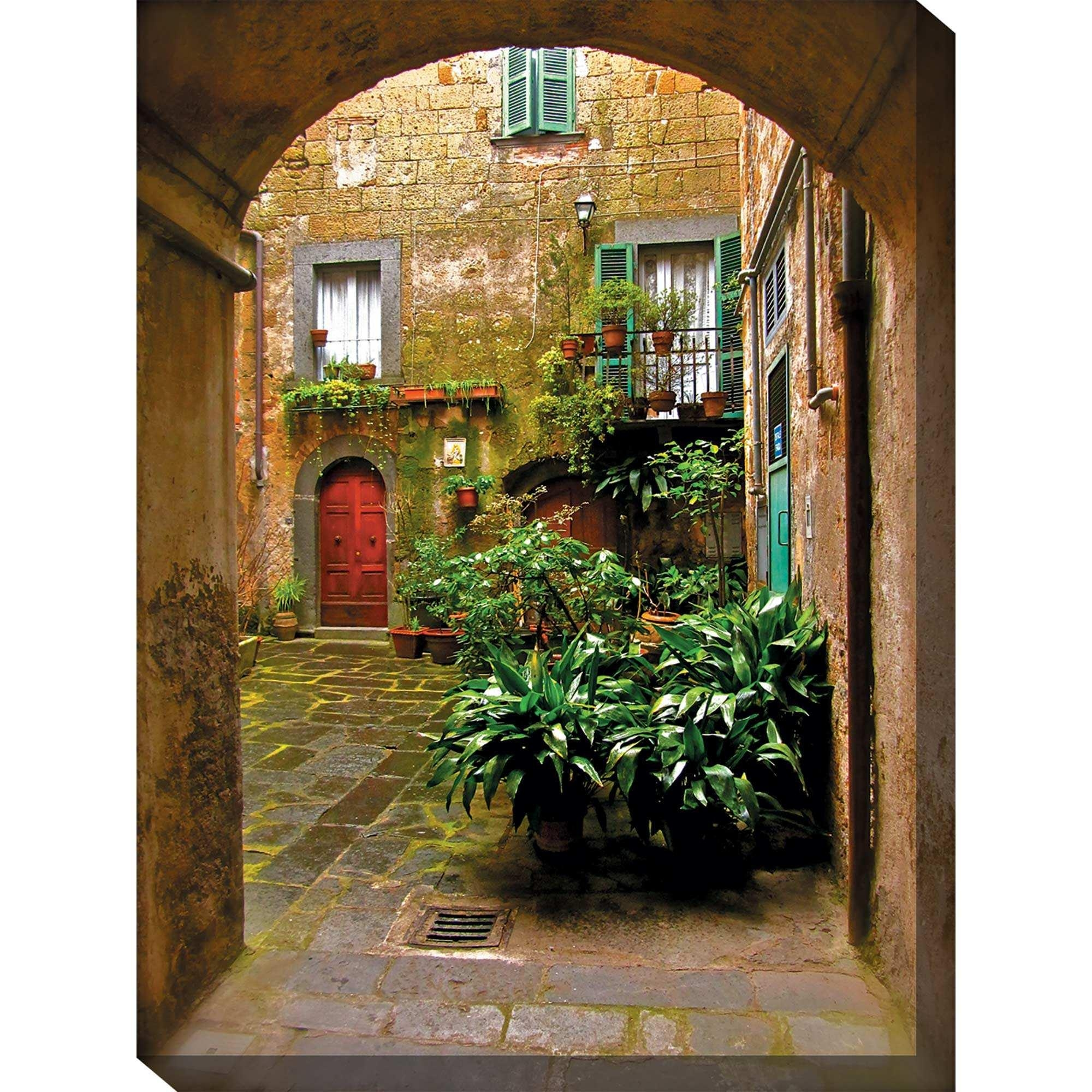 Italian Courtyard Outdoor Wall Art Piecewest Of The Wind | Ou For Old Italian Wall Art (Image 4 of 20)