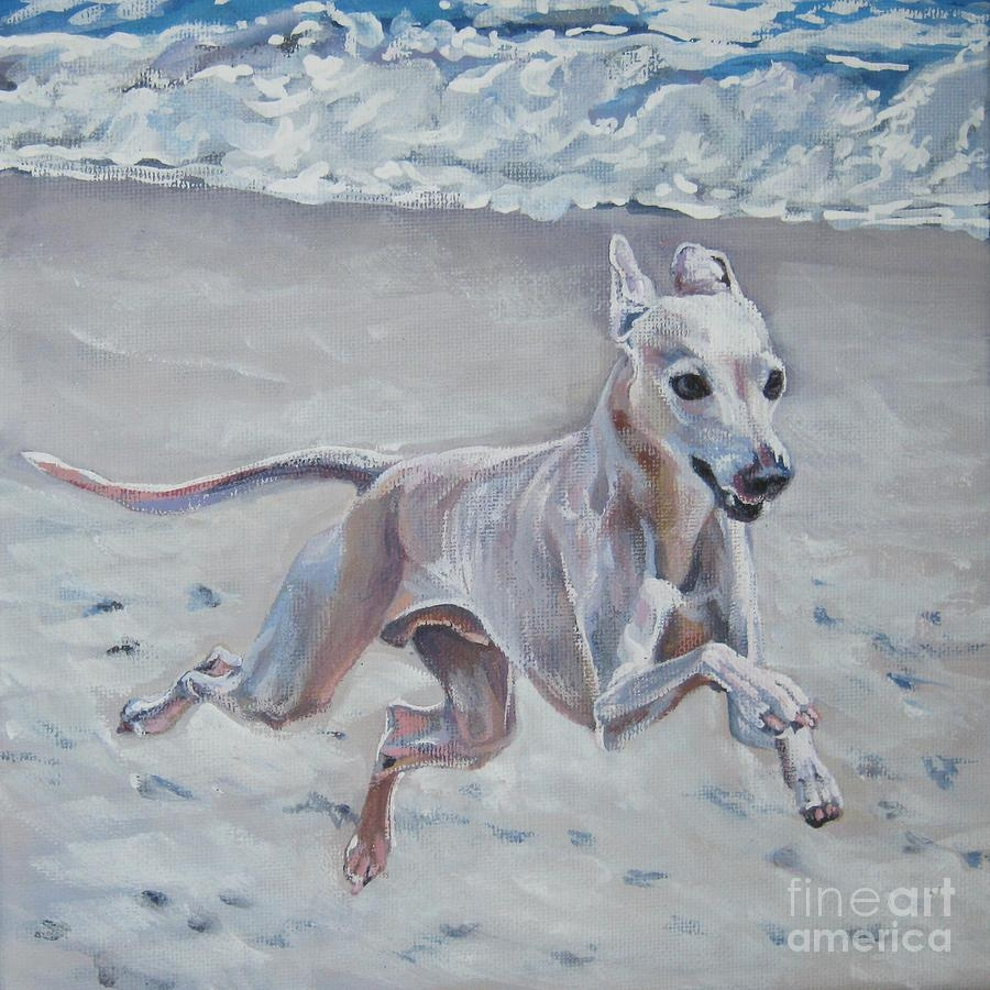 Italian Greyhound On The Beach Paintinglee Ann Shepard With Italian Greyhound Wall Art (Image 15 of 20)