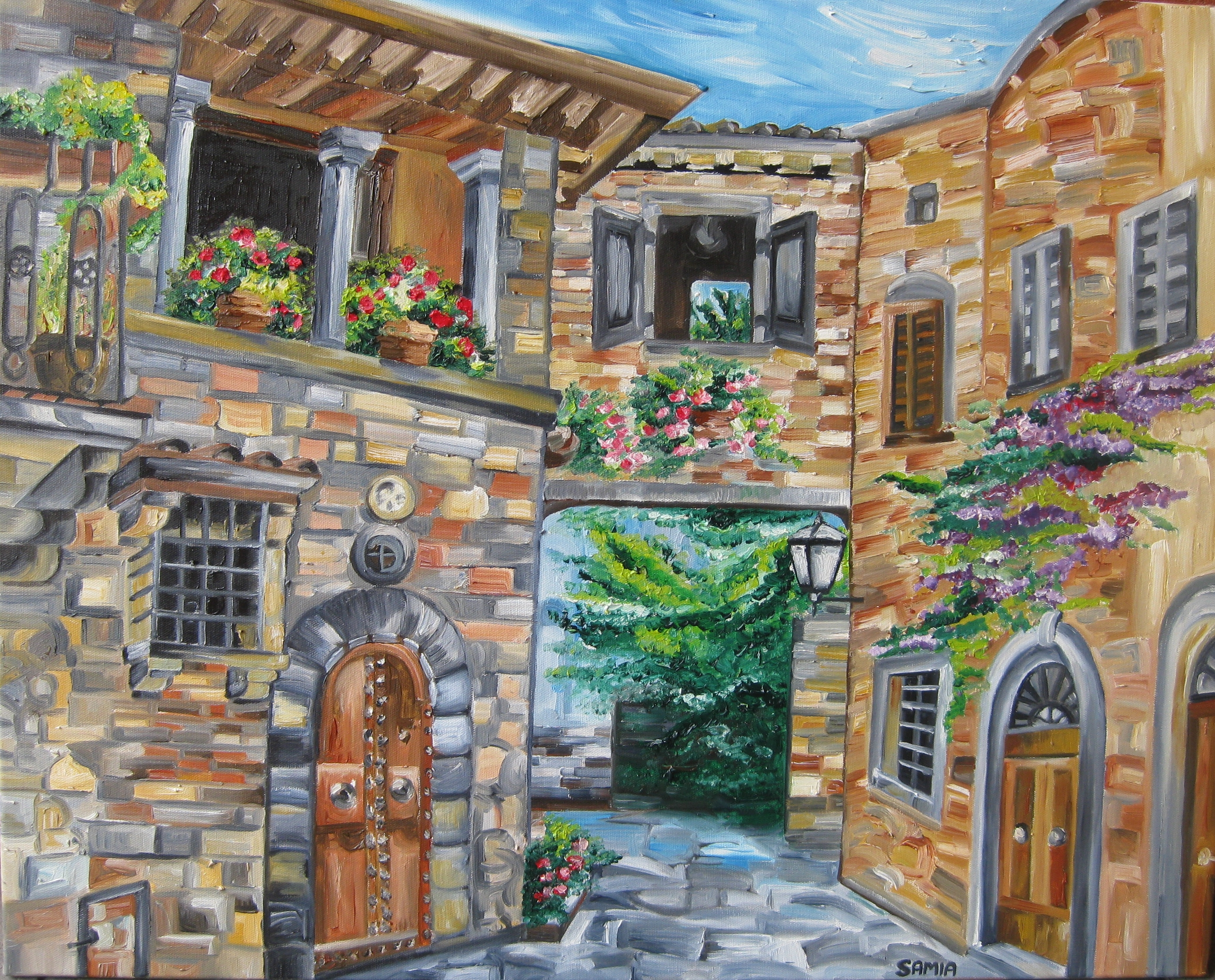 Italian Landscape | The Open Easel's Blog With Regard To Italian Scene Wall Art (View 15 of 20)